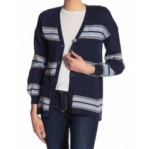 Nordstrom Democracy Striped Cardigan Top Sweater